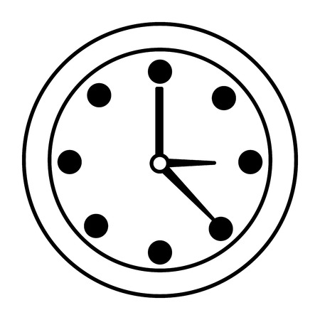 round clock time on white background vector illustration