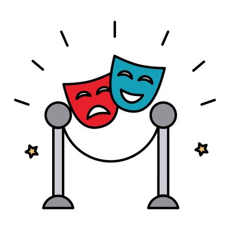 theater mask isolated icon vector illustration design Illustration