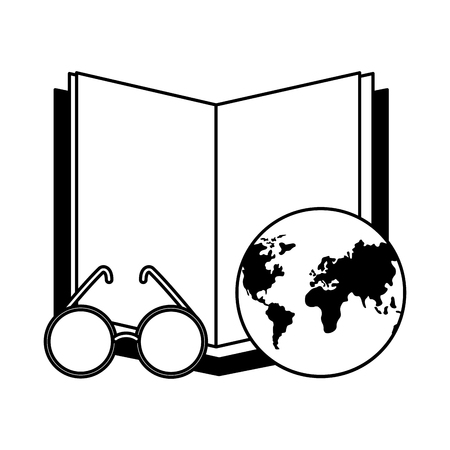 open book with planet earth icon vector illustration design Zdjęcie Seryjne - 122509356