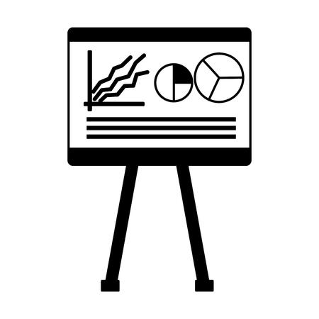 business report board presentation vector illustration design