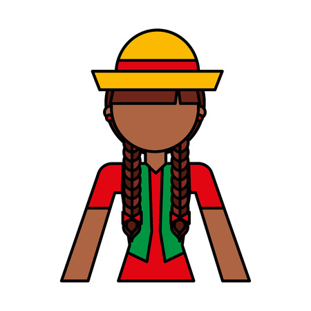 peasant woman avatar character vector illustration design Illustration
