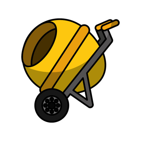 concrete mixer isolated icon vector illustration design