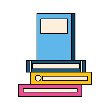 stack of books isolated icon vector illustration design  イラスト・ベクター素材