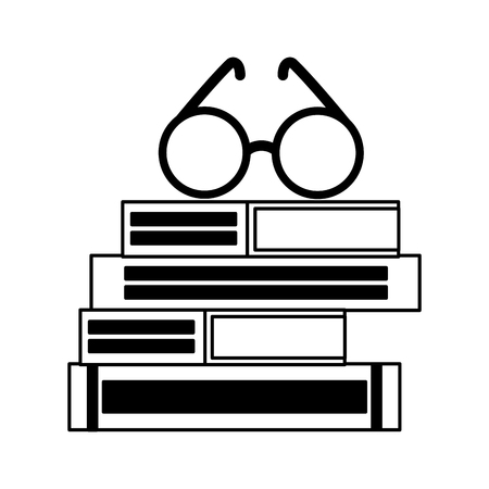 stack of books with lenses isolated icon vector illustration design Zdjęcie Seryjne - 122509591