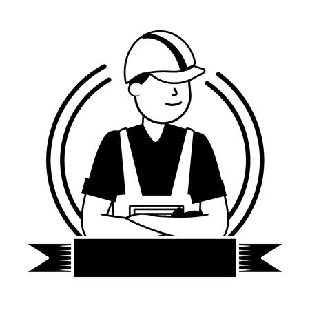 feliz día del trabajo trabajador empleado ilustración vectorial Ilustración de vector