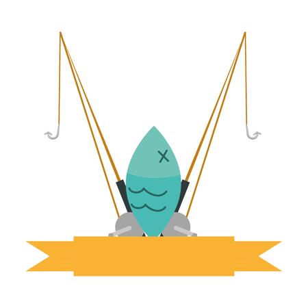 fishing rod isolated icon vector illustration design