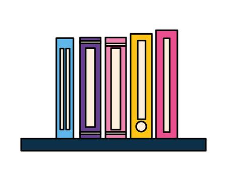 stack of books isolated icon vector illustration design Ilustracja