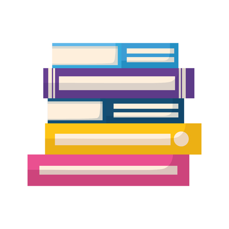 stack of books isolated icon vector illustration design Zdjęcie Seryjne - 122425065