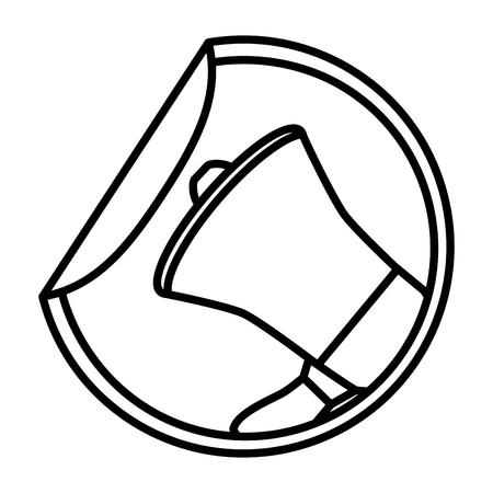 Banner de venta despegue la ilustración de vector de publicidad de etiqueta de papel