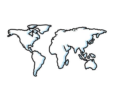 world planet earth maps vector illustration design