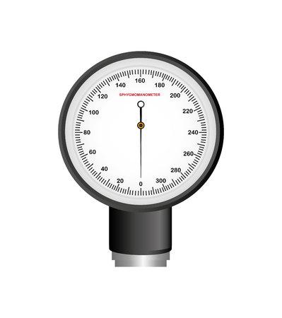 Manómetro de presión arterial aislado icono diseño ilustración vectorial