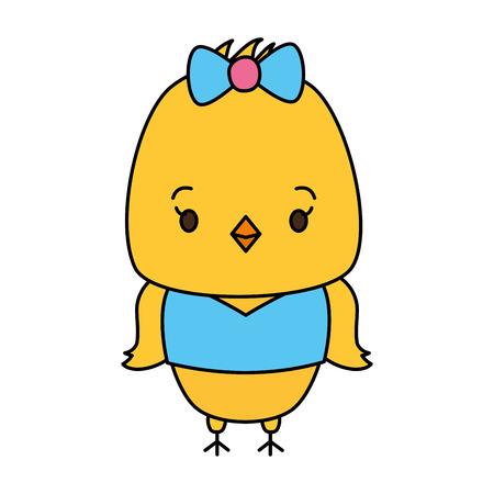 cute chicken animal cartoon vector illustration design Foto de archivo - 122425211
