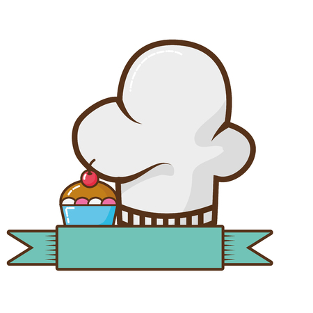 chef hat isolated icon vector illustration design Illusztráció