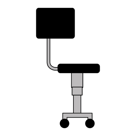office chair furniture on white background vector illustration