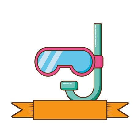 cute snorkel isolated icon vector illustration design