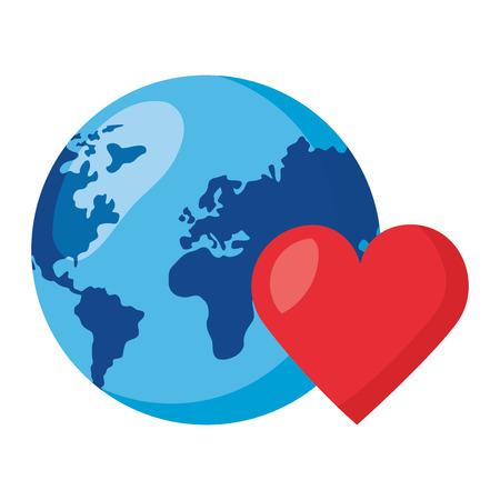 heart love world health day vector illustration