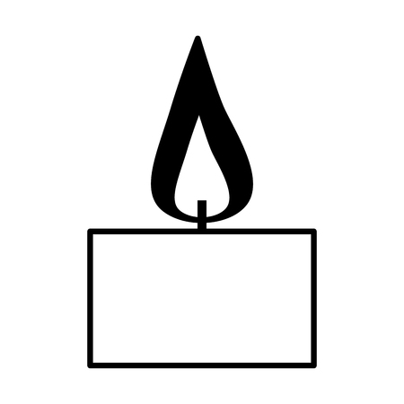 burning candle aroma on white background vector illustration design