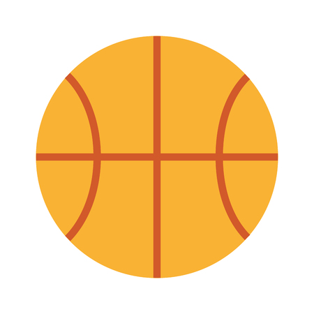 cute basketball isolated icon vector illustration design