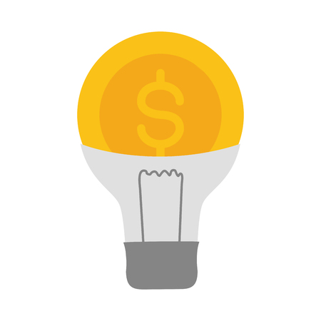 bulb coin money online payment vector illustration