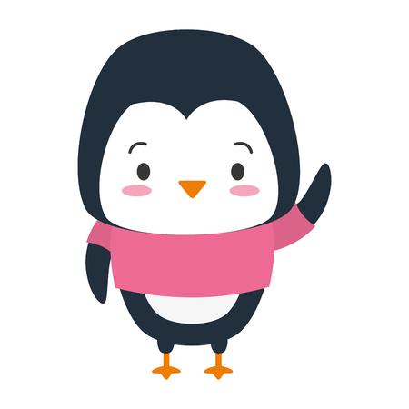 cute penguin animal cartoon vector illustration design 版權商用圖片 - 122266180