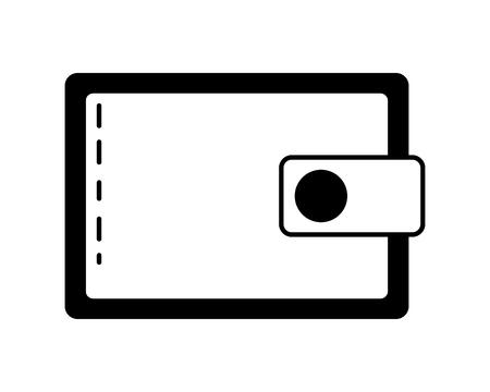 wallet saving online banking icon vector illustration