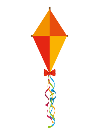 kite flying isolated icon vector illustration design Illustration