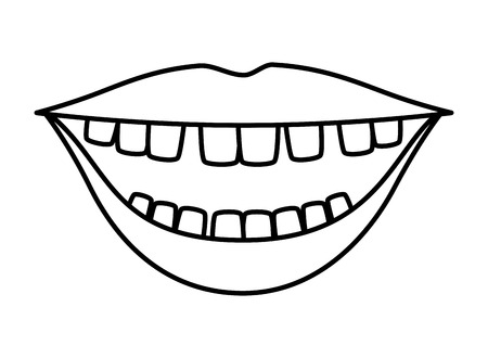 mouth with comics teeth vector illustration design Ilustração