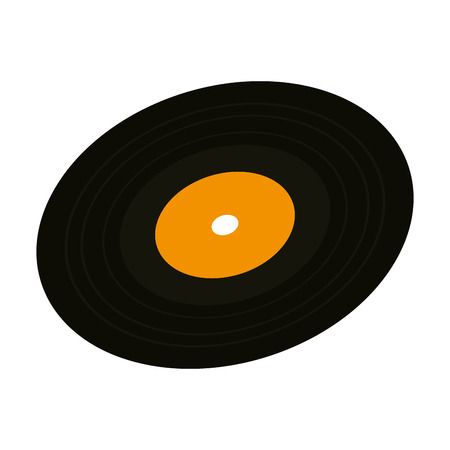 Vinyl-Scheibe isoliert Symbol Vektor Illustration Design