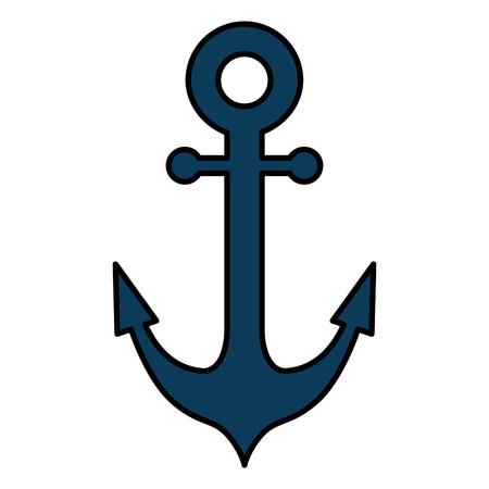 kotwica statek na białym tle ikona wektor ilustracja projekt
