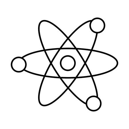 atomo molecola icona isolata illustrazione vettoriale design