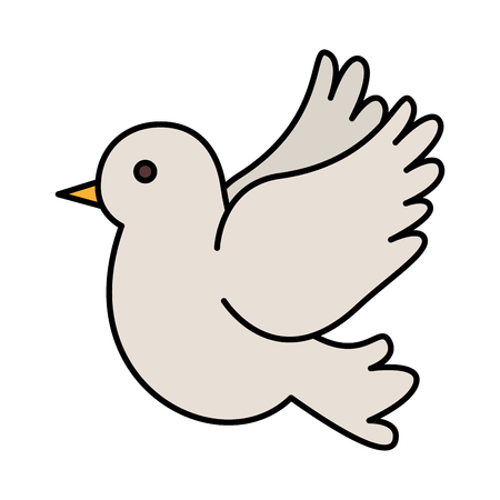 cute dove flying icon vector illustration design Imagens - 122326126