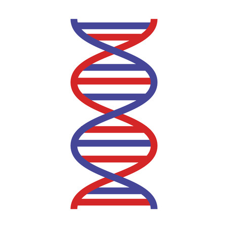 dna molecule science icon vector illustration design Ilustrace