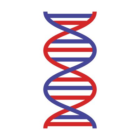 dna molecule science icon vector illustration design Illustration