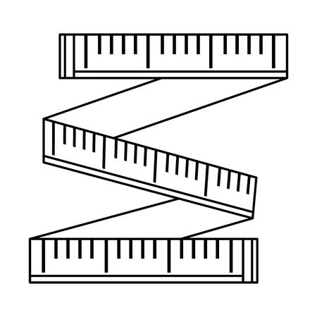 tape measure isolated icon vector illustration design Illustration