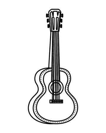 acoustic guitar instrument icon vector illustration design Ilustração