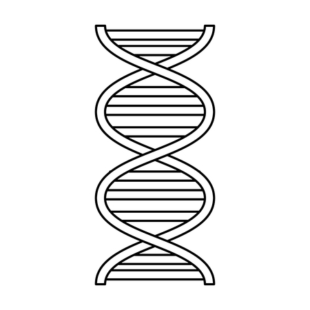Molécule d'adn science conception d'illustration vectorielle icône Vecteurs
