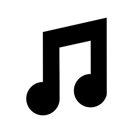 music note isolated icon vector illustration design Vectores