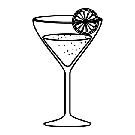 margarita cocktail in cup vector illustration design Ilustração