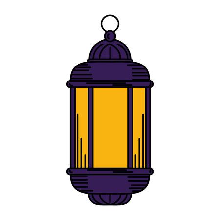 ramadam karem lamp hanging vector illustration design