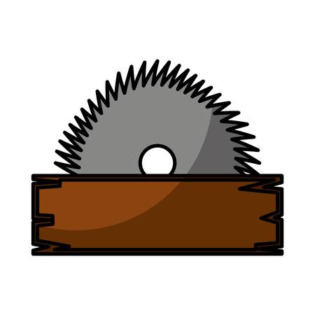 Diseño de ilustración de vector de icono de herramienta de sierra eléctrica