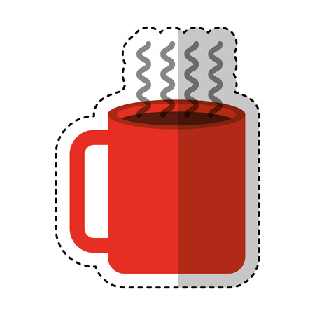 coffee cup drink isolated icon vector illustration design 向量圖像