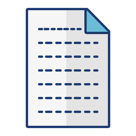 paper sheet icon on white background vector illustration