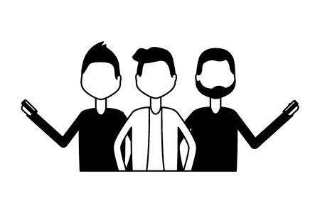 men using mobiles chatting social media vector illustration