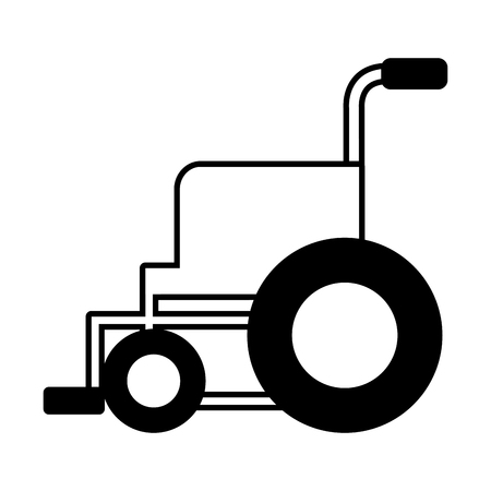 medical wheelchair equipment vector illustration design icon