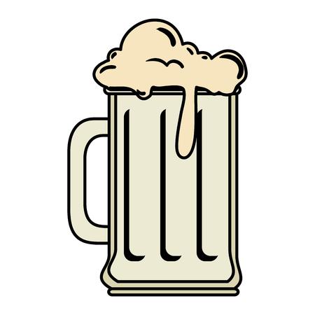 beer jar drink icon vector illustration design Stock Illustratie