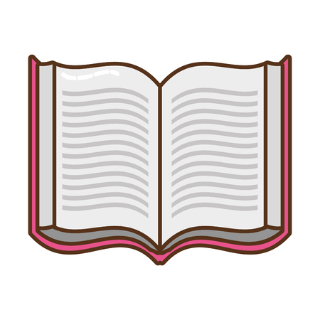 open book isolated icon vector illustration design Ilustracja