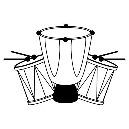 drums celebration musical brazil carnival festival vector illustration  イラスト・ベクター素材