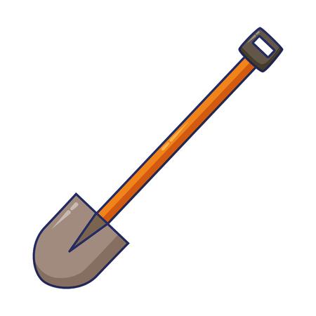 shovel construction tool vector illustration design image