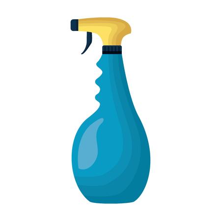 spray detergente strumento pulizia su sfondo bianco illustrazione vettoriale