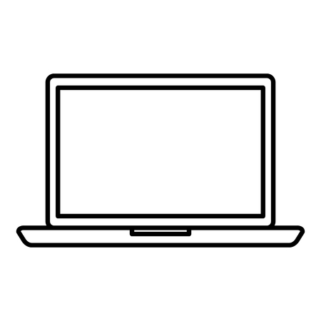 laptop computer isolated icon vector illustration design 스톡 콘텐츠 - 122431235